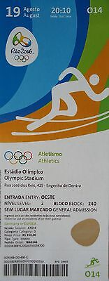 mint TICKET 19.8.2016 Olympia Rio Finals Leichtathletik Athletics # O14