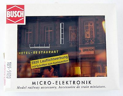 HO/N Scale Illuminated Advertising Signs - Toy-Shop & Cinema - Busch #5920