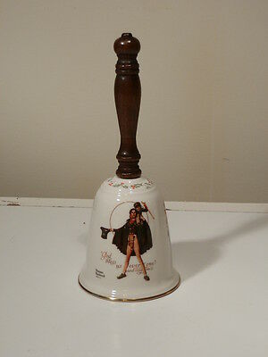 Norman Rockwell Tiny Tim 1984 Large Dinner  Bell By Gorham Excellent