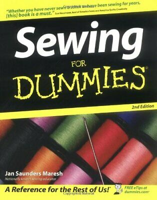 Sewing For Dummies by Saunders Maresh, Jan Paperback Book The Cheap Fast Free