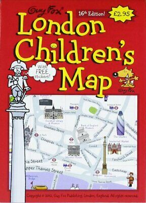 Guy Fox London Children's Map Sheet map, folded Book The Cheap Fast Free Post