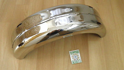 Li S'2.rear Mudguard Polished Stainless Steel.clearance Line.for  Lambretta