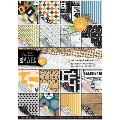 Papermania Double-Sided A4 Paper Pack 24/Pkg-Mr. Mister