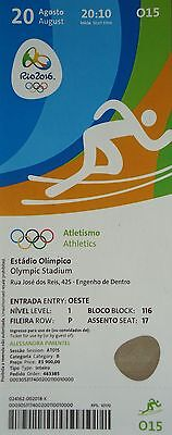 TICKET 20.8.2016 Olympia Rio Finals Leichtathletik Athletics # O15