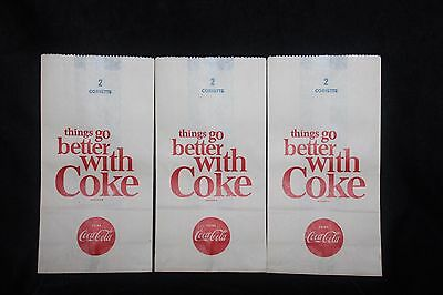 Vintage Coca Cola Bottle No Drip Bag Lot Of 3 Old Store Stock  EXCELLENT