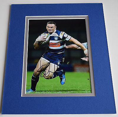 Kevin Sinfield Signed Autograph 10x8 photo display Yorkshire Carnegie Rugby COA