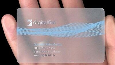 100x Custom Full Color PVC Frosted Plastic Business Cards + Free Design Shipping