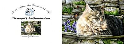 Cat Greeting Card Missed Butterfly from Art by Irina Garmashova