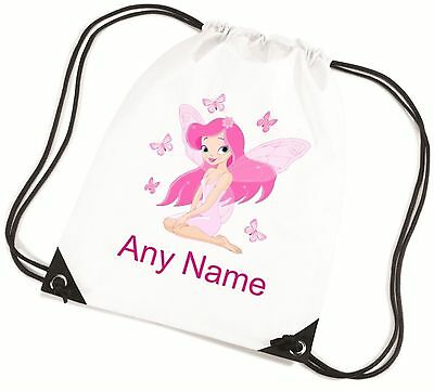 Personalised Pink FAIRY School/PE/Bag - *Choice Of Colours* Free Postage*
