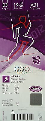 TICKET 3.8.2012 Olympia Olympic Stadium Leichtathletik Athletics # A31