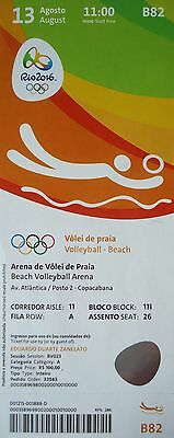 TICKET 13.8.2016 Olympia Rio Beachvolleyball # B82