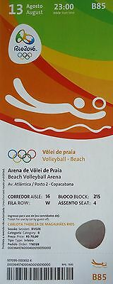 mint TICKET 13.8.2016 Olympia Rio Beachvolleyball # B85