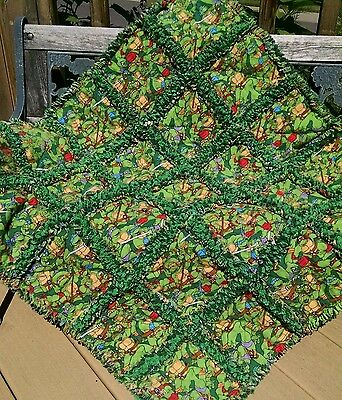 Teenage Mutant Ninja Turtles Rag quilt throw  handmade in the USA