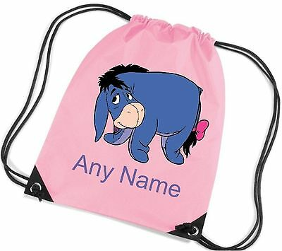Personalised Eeyore Style PE Bag  *Choice Of Colours* Free Postage*