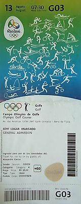 TICKET A 13.8.2016 Olympia Rio Golf Golfe # G03