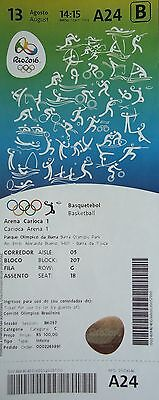 mint TICKET A 13.8.2016 Olympia Basketball Men's Argentinien - Brasilien # A24