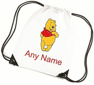 Personalised Winnie The Pooh Style PE Bag  *Choice Of Colours* Free Postage*