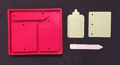Sizzix Die Back To School Supplies Scrapbook Craft Retired Used Red Bigz Large