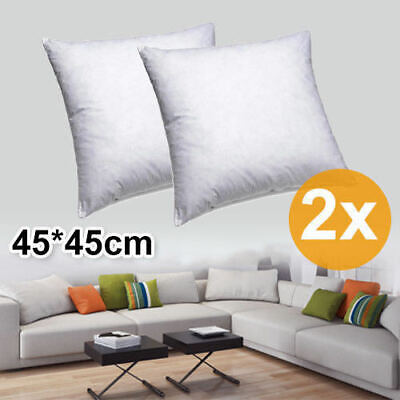 2X 45x45cm Pillow Memory Resilient Cushion Inserts Polyester Filling