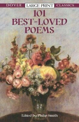 101 Best-Loved Poems (Dover Large Print Classics) Paperback Book The Cheap Fast