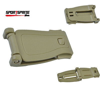 Tactical Molle System Buckle Strap Adaptor Plastic for Hunting Pouch Tan