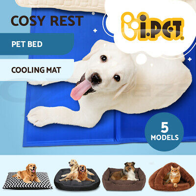 i.Pet Pet Cool Gel Mat Dog Cat Bed Non-Toxic Cooling Dog Cold Summer Pad 5 Sizes