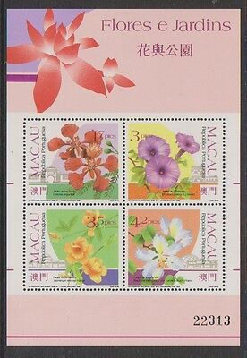 Macau - 1991 Flowers & Gardens (1st issue) sheet - MNH - SG MS759