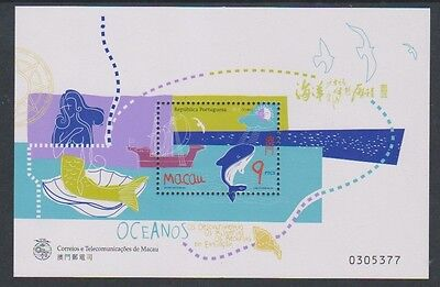 Macau - 1998 Year of the Ocean sheet - MNH - SG MS1050