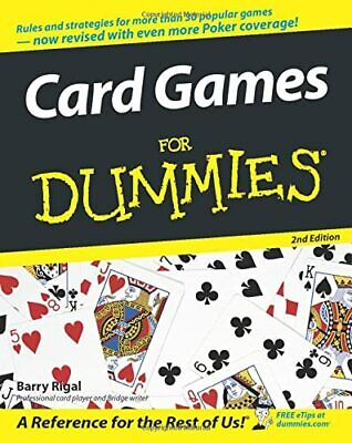 Card Games For Dummies 2e by Rigal, Barry Paperback Book The Cheap Fast Free
