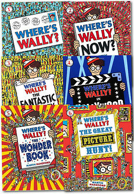 Where's Wally? Wow Collection 6 Large Books Set