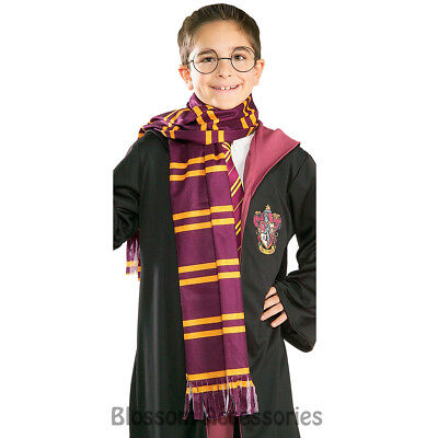 A893 Deluxe Harry Potter Gryffindor Striped Scarf House Crest Costume Cosplay