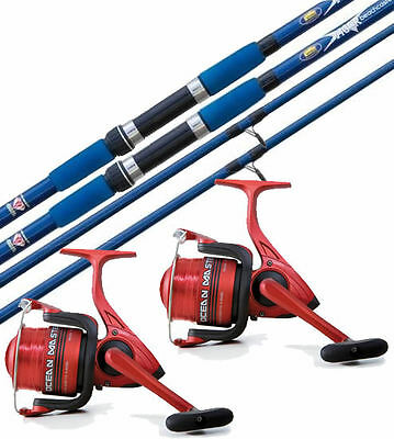 Beach Casting Fishing Rod & Reel Deal - 12ft Beach Caster & Surf Reel