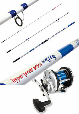 BEACHCASTER  Rod & Reel - 3 Piece 14ft 420 300g CW Beach Rod & Multiplier Reel