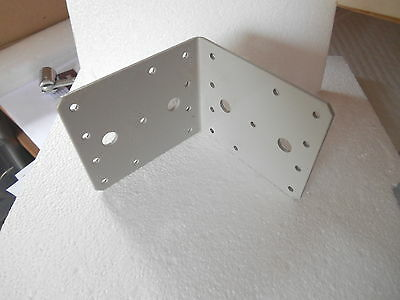 Heavy Duty  3Mm Thick Steel Powder Coated Cream 105 X105 X 90 Mm Angle Bracket