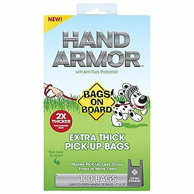 Bags on Board Hand Armor Pick-Up Bags w/Anti-Yuck Protection 100 ct Bl