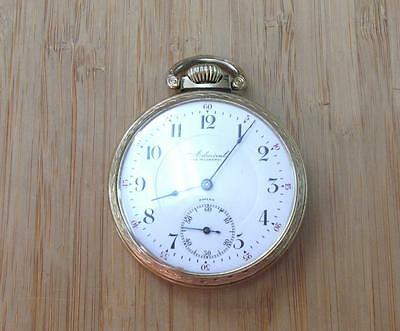 1904 Admiral Pocket Watch with Rolled Gold Plated Case 7-Jewels ~ 11-K3348