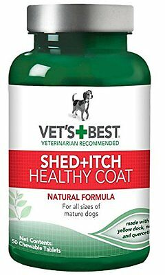 Vet's Best Dog Healthy Coat Shed and Itch Supplement 50 Tablet Green