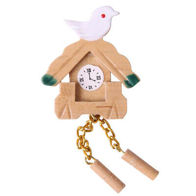 Dollhouse Miniature Wooden Cuckoo Clock FOR 1/12th Dolls House Furniture