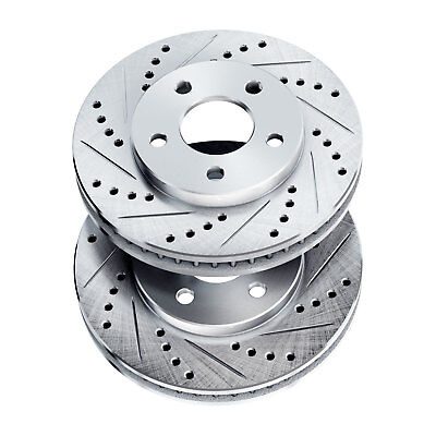 Brake Rotors [2 Front] POWERSPORT *DRILLED & SLOTTED* DISC BJ08051