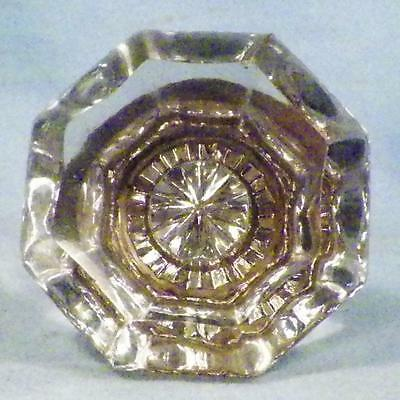 1 Antique Mercury Glass Door Knob Hexagon Victorian Architectural Salvage #8