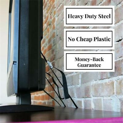 Furniture TV Anti-tip Wall Straps Belt Anchor Heavy Duty Metal Mounting Safe CB
