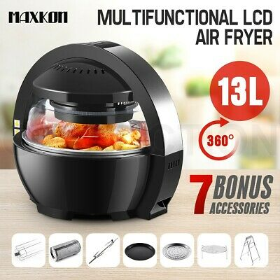 13L Multi LCD Digital Turbo Space Capsule Air Fryer Cooker Low Fat Oil free Oven