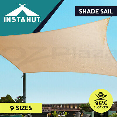 Extra Heavy Duty Shade Sail Sun Canopy Outdoor Triangle Square Rectangle