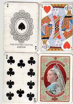 w8738. Empire Card Co Queen Victoria Anniversary Playing Cards 1895