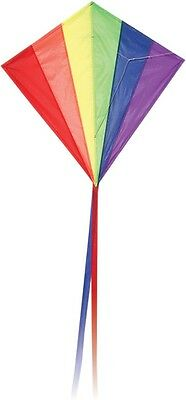 Classic Diamond Rainbow Kite - Easy To Fly - Single String - Great For Kids