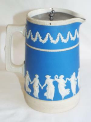 "Large antique 7"" Copeland water jug in Dancing Hours pattern."