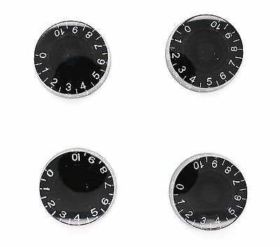 4 Black Guitar Speed Knobs For Epiphone LP SG Style Metric Import SECONDS
