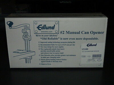 BRAND NEW  Edlund - No 2 Commercial Can Opener Restaurants Foodservice 1210 #2