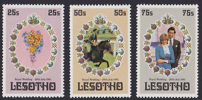 1981 Lesotho Royal Wedding unmounted mint stamps x 3 SG 451-453