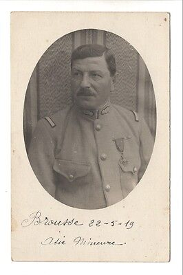 Military Related Postcard:  WWI era French Sergeant Jacques Lanis in Asia Minor